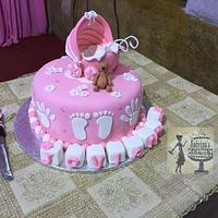 Baby stroller Baptism Cake