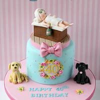 Spa Themed 40th Birthday Cake