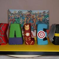 Superhero Inspired Letter Cakes