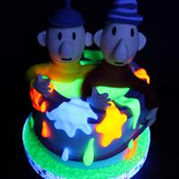 Blacklight cake