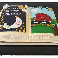 Nursery Rhymes Book Cake