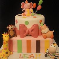Sweet Safari 1st Birthday Cake