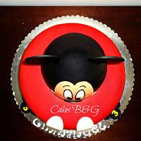 Mickey Mouse Cake by Laura Barajas