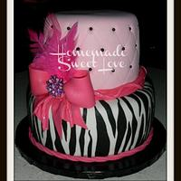 Zebra and lots of pink !!