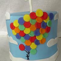1st Birthday Rainbow Balloons