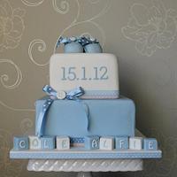 Baby Blue Christening Cake