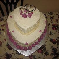 Hearts Wedding Cake