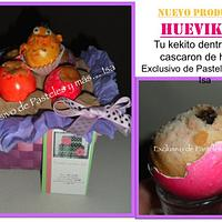 Easter cupcakes baked in real egg by Pastelesymás Isa