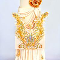 Guo Pei Dress Cake - Cake Central Magazine Fashion Issue