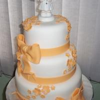 girl communion cake
