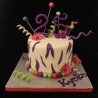 Funky Purple Zebra