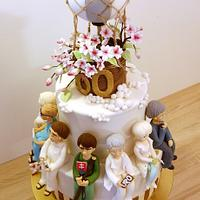 Group birthday cake