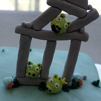 Angry Birds Cake by Jewell Coleman