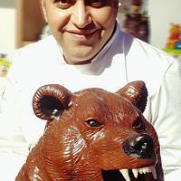 Bear chocolate show piece