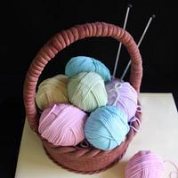 Knitting Basket Cake by Jayne Baratta