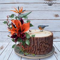 Log slice cake