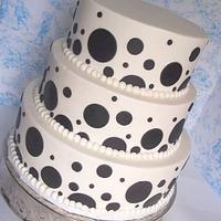 Polka-dot wedding by Corrie