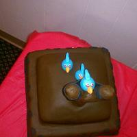 Angry Birds Birthday Cake by Peggy