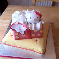 Hello Kitty wrapped present cake