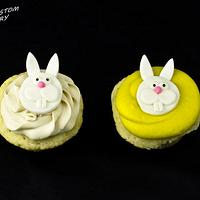 Fondant Easter Rabbit Cupcakes