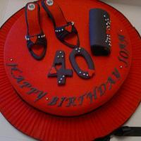 Shoes and handbags cake by K Cakes