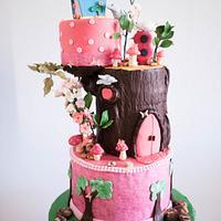 Birdhouse Enchanted Forest Cake