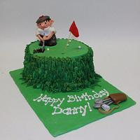 Birthday cake for a golf lover