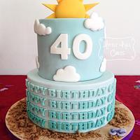 Sun, Sea, Sand & Sky Cake