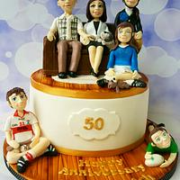 50th Anniversary cake  by Jenny Dowd