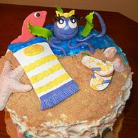 A day at the beach by Fun Fiesta Cakes