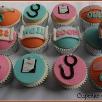 Get Well cupcakes