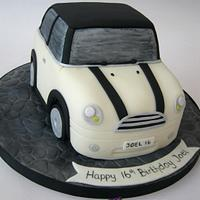 Cream & Black Mini Car Cake