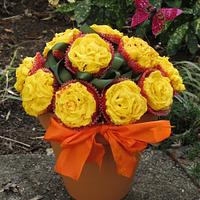 Pot of Roses by Elyse Rosati