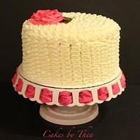 Ruffled petal tip cake