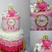 Birthday vintage cake
