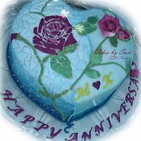 Mosaic Anniversary Cake
