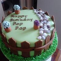 Garden birthday cake by Lisascakes