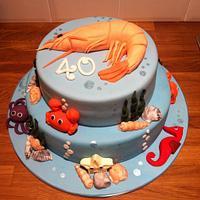 Seafood cake!