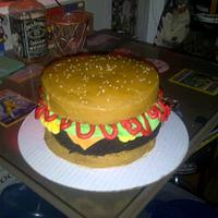 Birthday hamburger