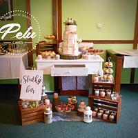 Wooden Wedding Sweet Bar
