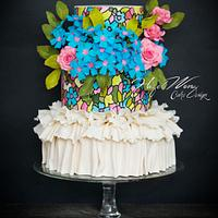 Marchesa spring summer Fashion Inspired Cake Collaboration