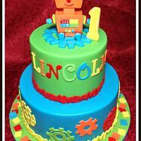 1st birthday Robot cake