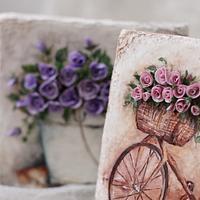 Сookies. Hand painted and sugar flowers.