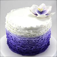 Ombre Purple Ruffle