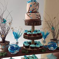 Love Bird Engagement Cake