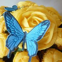 Yellow Rose flower pot by The Faith, Hope and Charity Bakery
