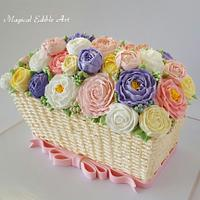Butter cream flower cakes