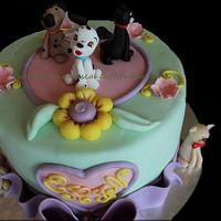 Puppies cake by Manuela's Cake Art Studio