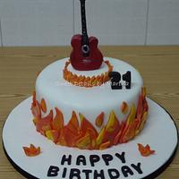 Music fan cake