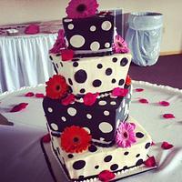 Whimsical Black & White Cake